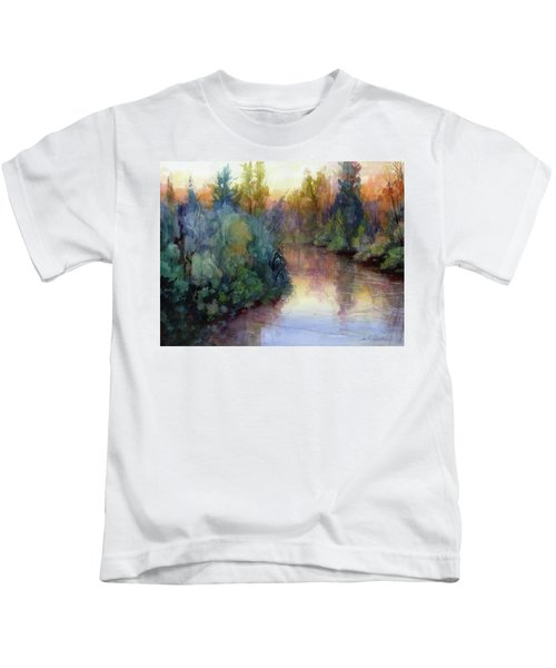 Evening On The Willamette Kids T-Shirt