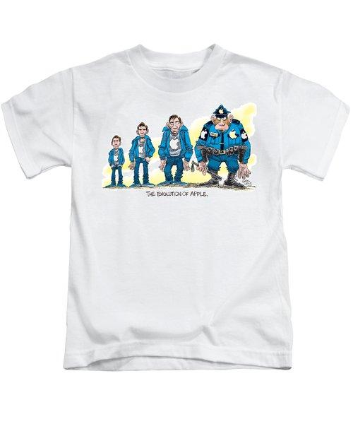 Evolution Of Apple Kids T-Shirt