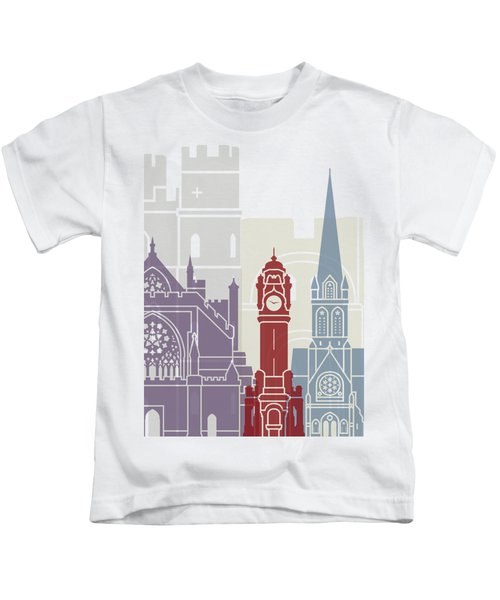 Exeter Skyline Poster Kids T-Shirt