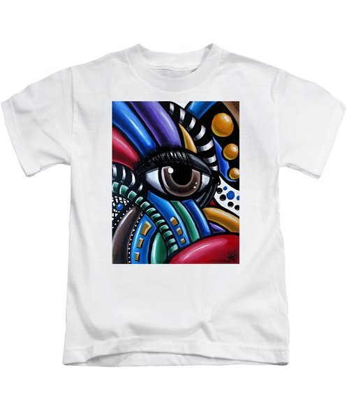 Eye Abstract Art Painting - Intuitive Chromatic Art - Pineal Gland Third Eye Artwork Kids T-Shirt