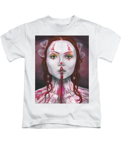 Kids T-Shirt featuring the painting Eyes Open by Matthew Mezo
