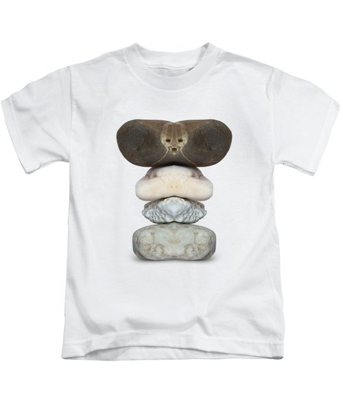 Face Of Alien On The Stone Kids T-Shirt