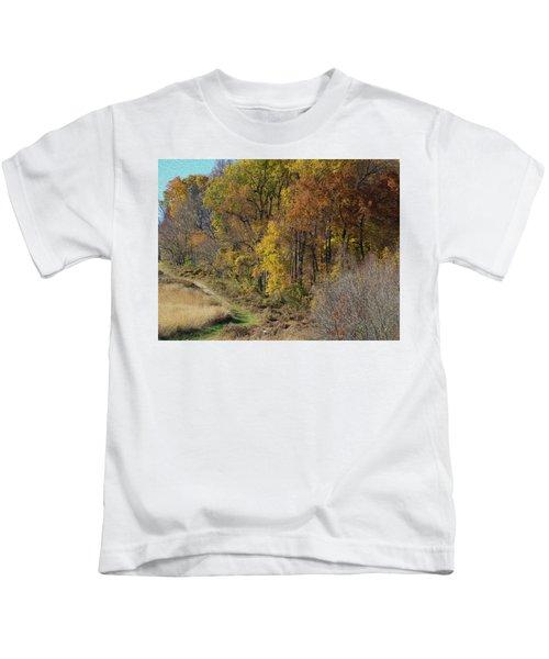 Fall Colors As Oil Kids T-Shirt