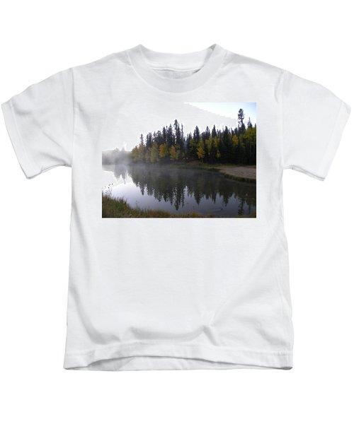 Kiddie Pond Fall Colors Divide Co Kids T-Shirt