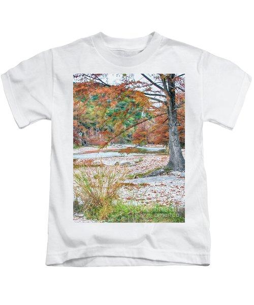 Fall In Texas Hills Kids T-Shirt