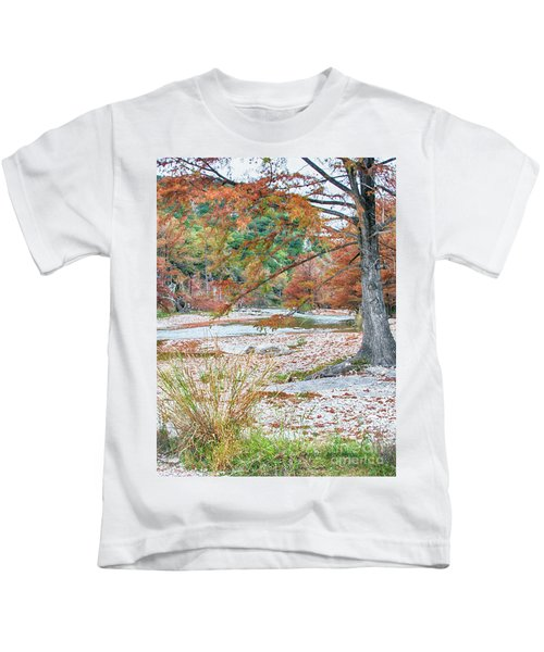 Fall In Texas Hills Kids T-Shirt