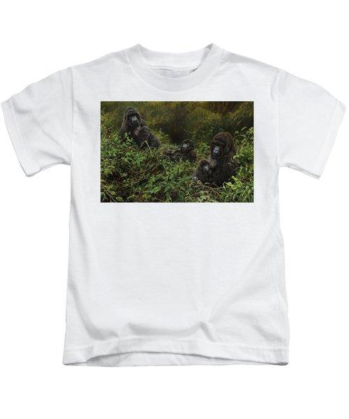 Family Of Gorillas Kids T-Shirt