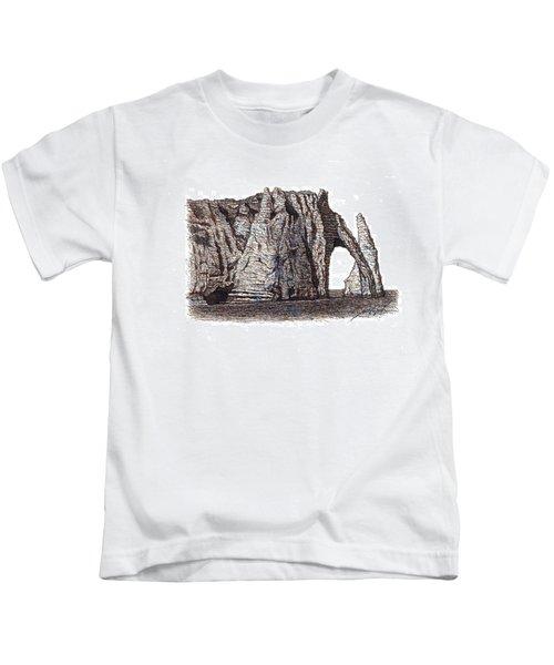 Famous Cliffs Of Etratat Kids T-Shirt
