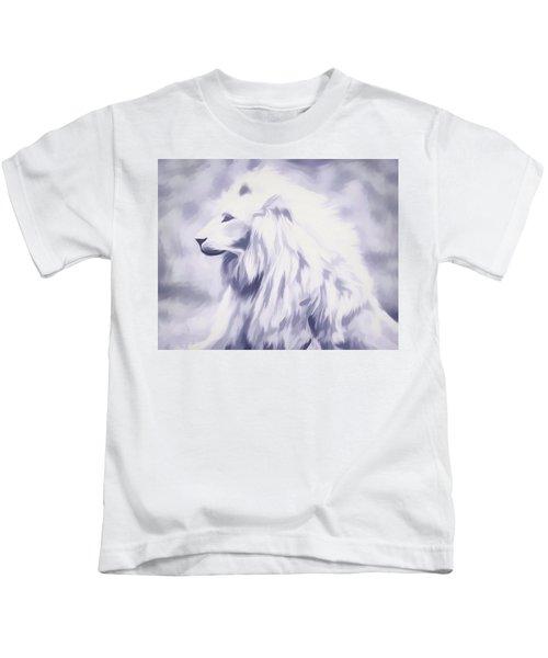 Fantasy White Lion Kids T-Shirt