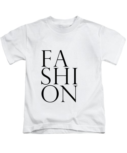 Fashion - Typography Minimalist Print - Black And White 01 Kids T-Shirt