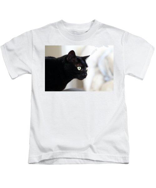 Feline On The Prowl Kids T-Shirt