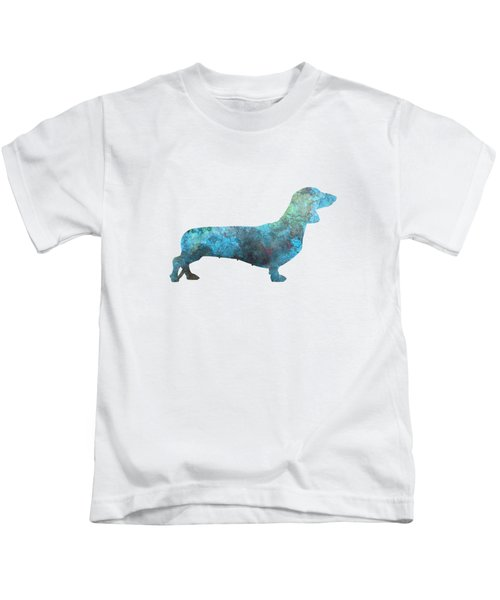 Female Dachsund In Watercolor Kids T-Shirt by Pablo Romero