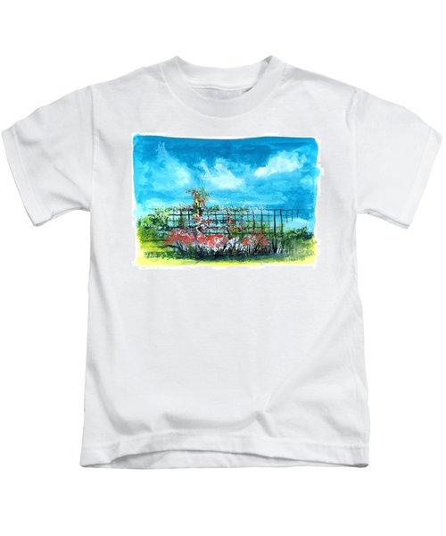 Fenceline Floral Kids T-Shirt