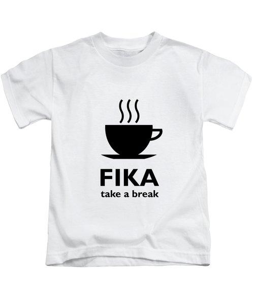 Fika - Take A Break Kids T-Shirt
