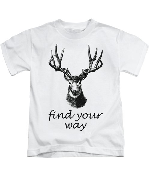 Find Your Way Kids T-Shirt by Magdalena Raszewska