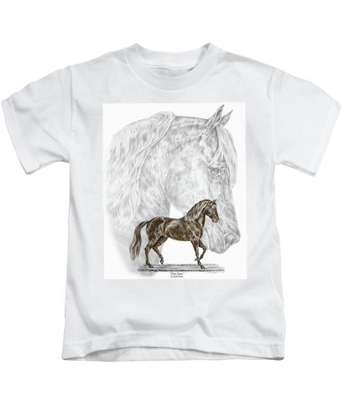 Fine Steps - Paso Fino Horse Print Color Tinted Kids T-Shirt