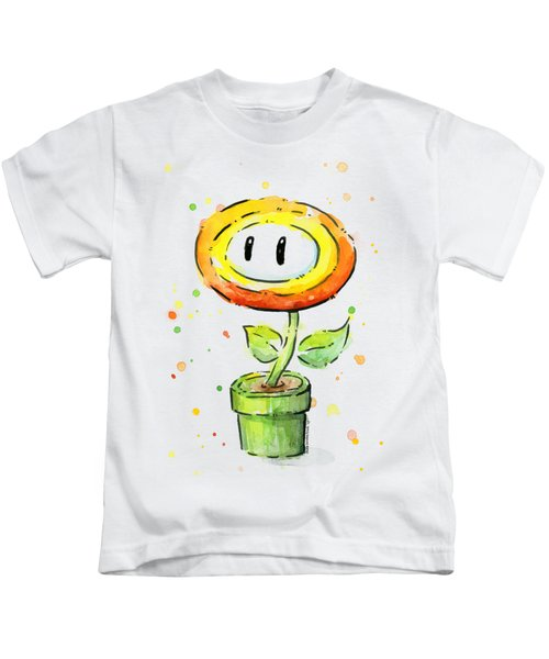 Fireflower Watercolor Kids T-Shirt