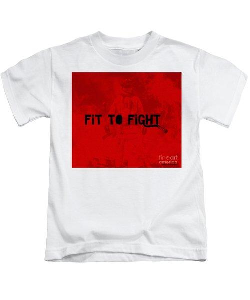 Fireman In Red Kids T-Shirt