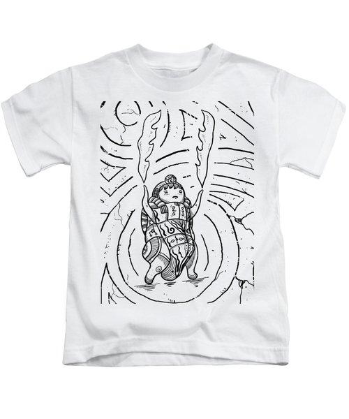 Firestarter Kids T-Shirt by Sotuland Art