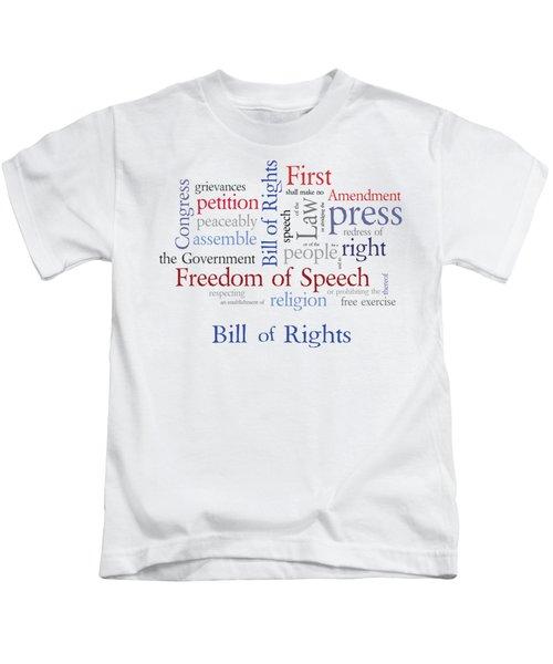 First Amendment - Bill Of Rights Kids T-Shirt