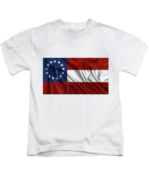 First Flag Of The Confederate States Of America - Stars And Bars 1861-1863 Kids T-Shirt