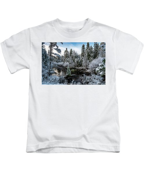 First Snow On Grand Marais Creek Kids T-Shirt