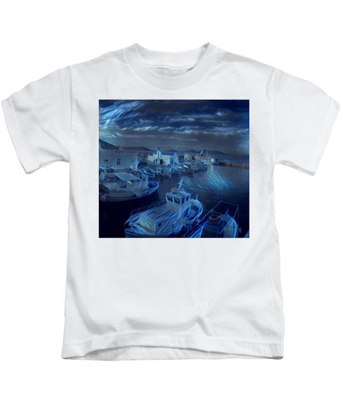 Kids T-Shirt featuring the photograph Fish Harbour Paros Island Greece by Colette V Hera Guggenheim