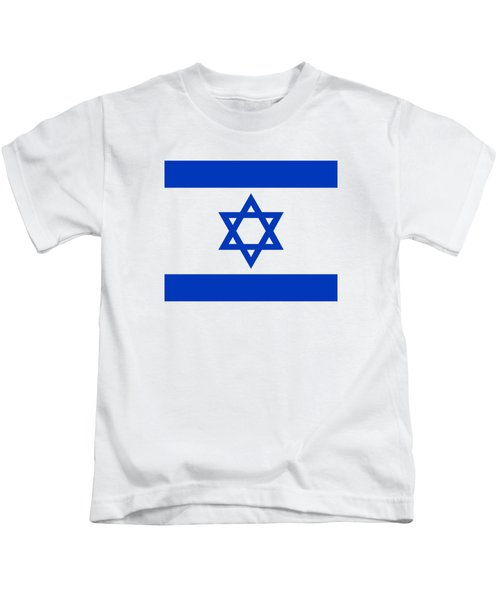 Flag Of Israel Authentic Version Kids T-Shirt