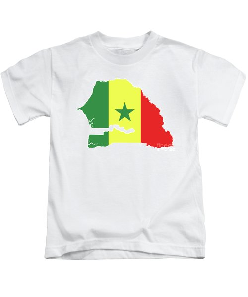 4526bcda7 Flag Of Senegal In Country Silhouette Kids T-Shirt