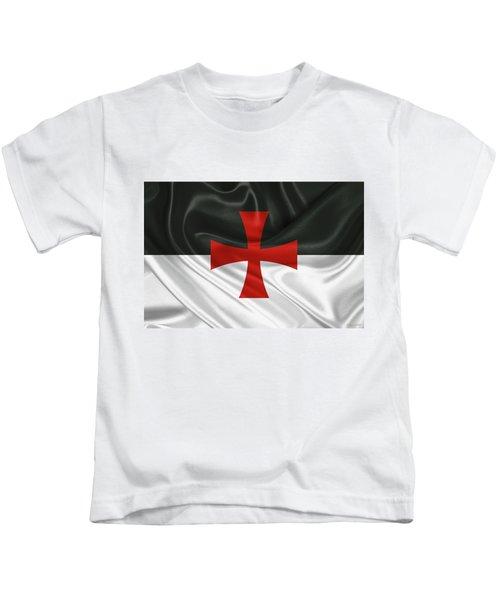 Flag Of The Knights Templar Kids T-Shirt