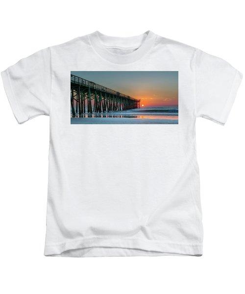 Flagler Pier Sunrise Kids T-Shirt
