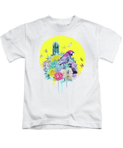 Floral Ara Kids T-Shirt
