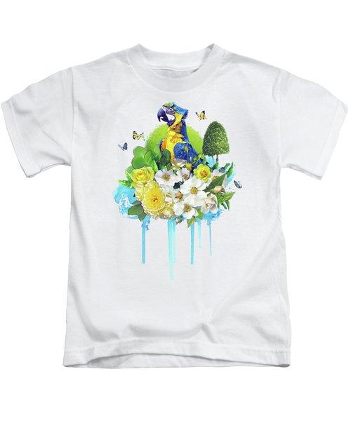 Floral Parrot Kids T-Shirt
