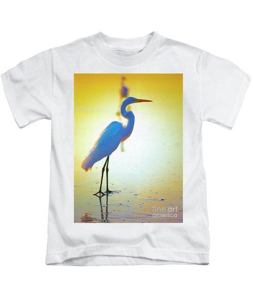 Florida Atlantic Beach Ocean Birds  Kids T-Shirt