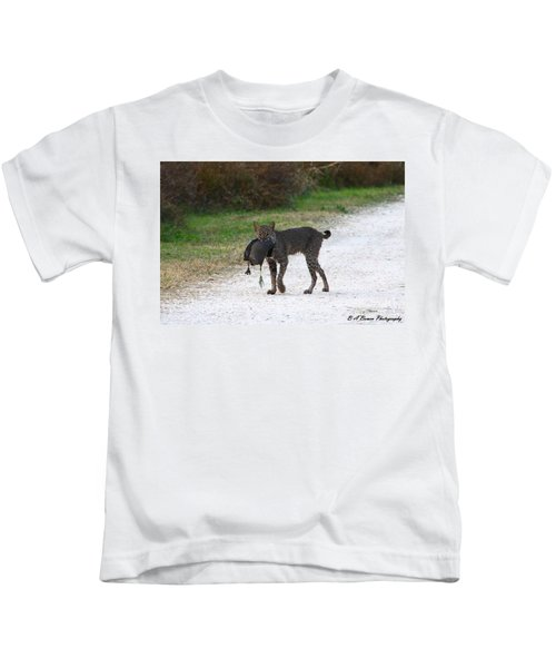 Florida Bobcat Catches An Evening Snack Kids T-Shirt
