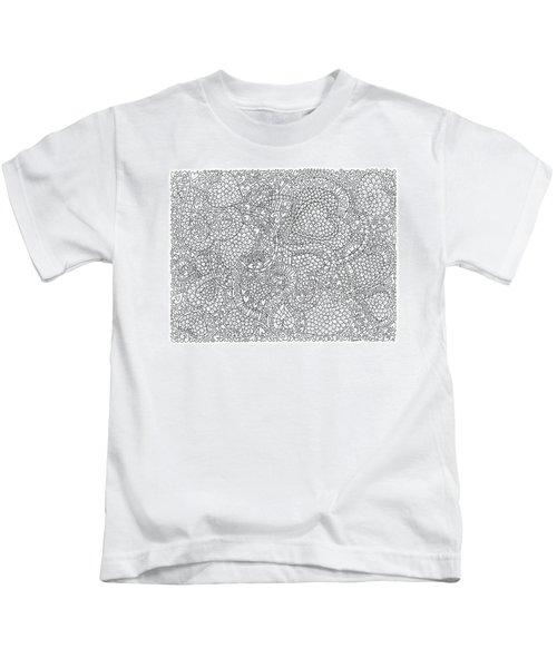 Flower Filled Interlocking Hearts Horizontal Kids T-Shirt
