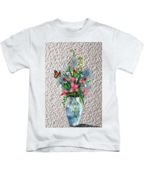 Flower Study Three Kids T-Shirt