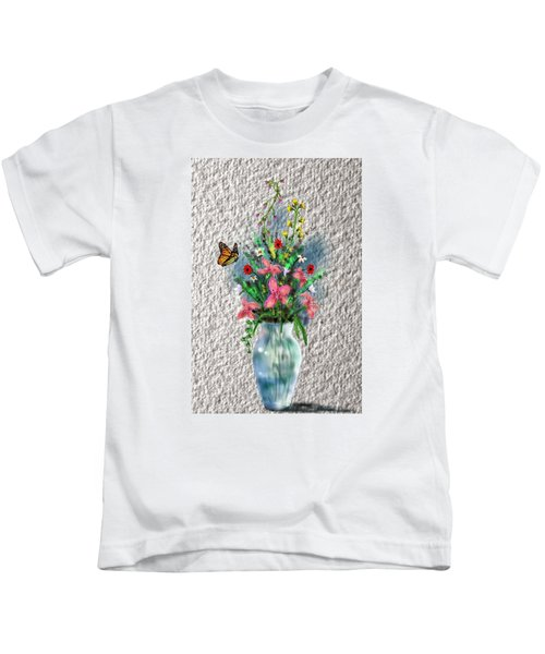 Flower Study Three Kids T-Shirt