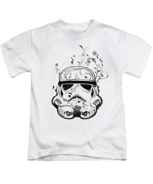Flower Trooper Kids T-Shirt by Nicklas Gustafsson