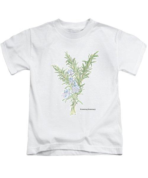 Flowering Rosemary Kids T-Shirt