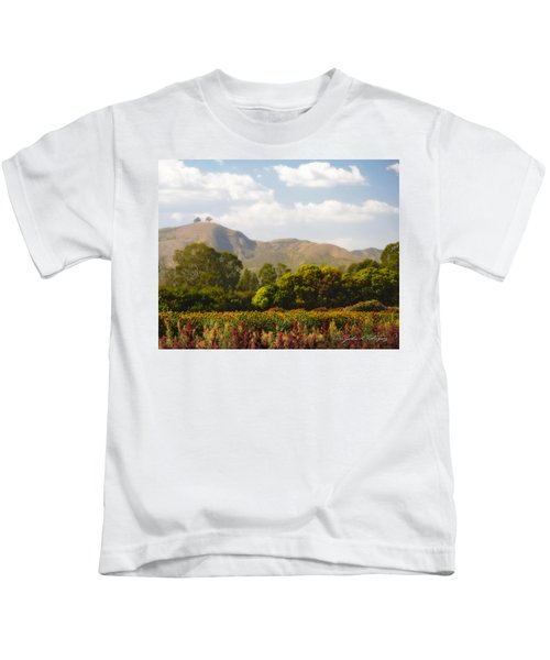 Flowers And Two Trees Kids T-Shirt