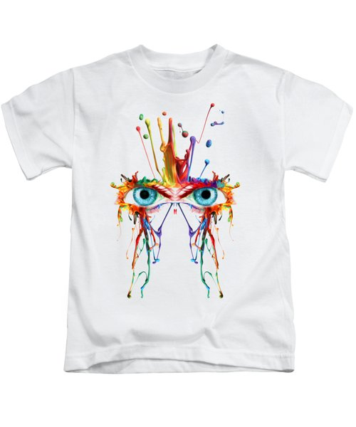 Fluid Abstract Eyes Kids T-Shirt