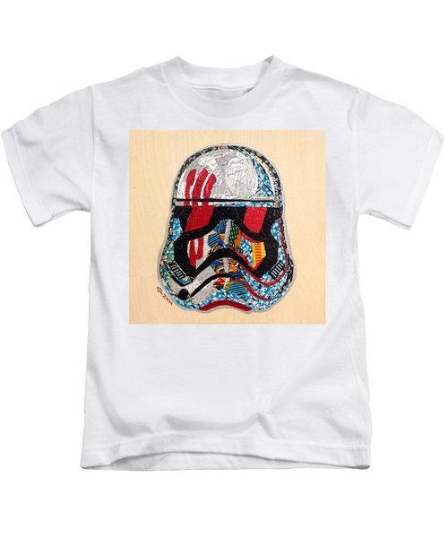Storm Trooper Fn-2187 Helmet Star Wars Awakens Afrofuturist Collection Kids T-Shirt