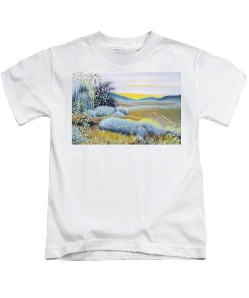 Foggy Dawn Through Window Kids T-Shirt