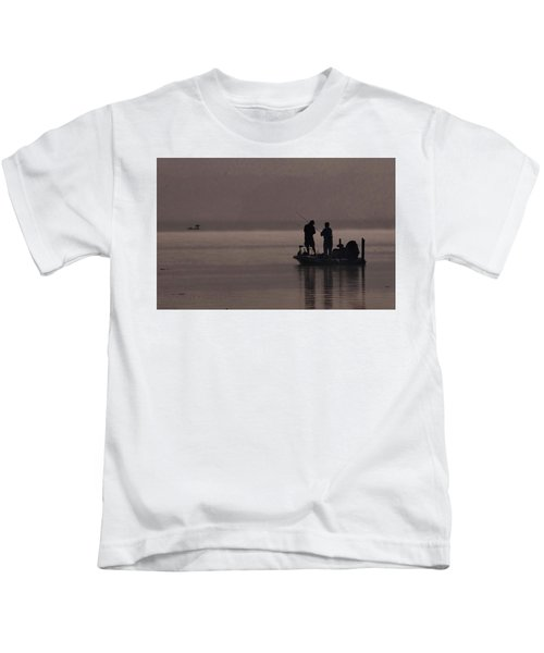 Foggy Fishing Kids T-Shirt
