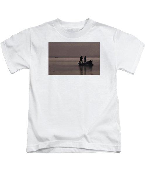 Foggy Fishing Kids T-Shirt