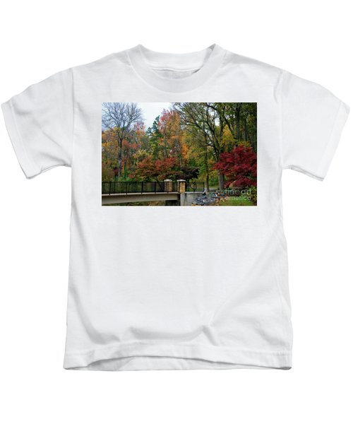 Foot Bridge In The Fall Kids T-Shirt