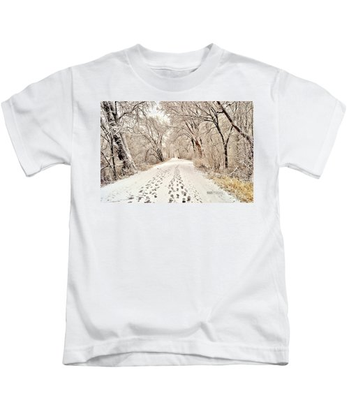 Footprints  Kids T-Shirt