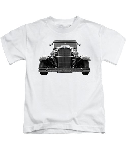 Ford Coupe Head On In Black And White Kids T-Shirt