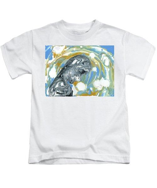 Kids T-Shirt featuring the painting Forgotten by Matthew Mezo